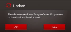 how to update msi dragon center